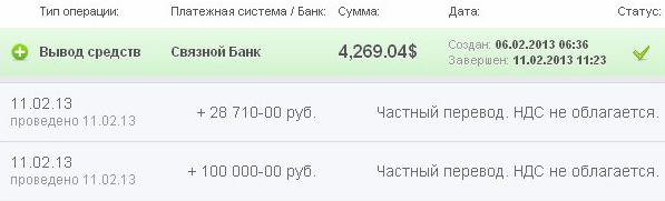 Крупная выплата, 4269$ от Landora Investing LTD