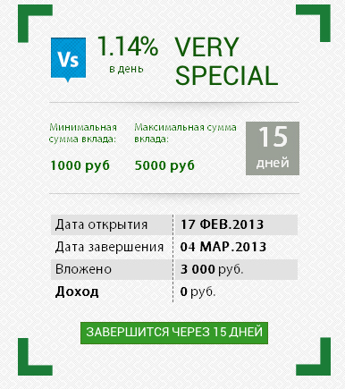 Мой вклад Traders Company на 3000 рублей